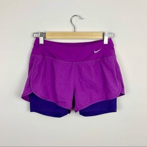 Nike Dry Fit Rival 3-inch Purple Athletic Shorts